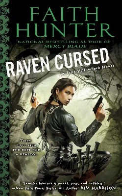RAVEN CURSED book cover - urban fantasy novel
